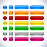 Modern web buttons. Stock Images