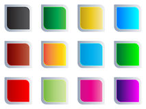 Modern web buttons Stock Photography