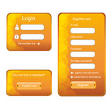 Modern web card  form. Modern web card login form Stock Images