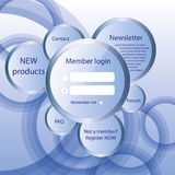 Modern web card  form. Modern web card login form Stock Image