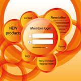 Modern web card  form. Modern web card login form Royalty Free Stock Images