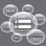 Modern web card  form Stock Image