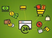 Modern web commerce illustration Royalty Free Stock Photography
