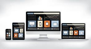 Modern web design concept - electronic devices  vector Stock Photo