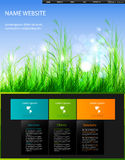 Modern web design template Stock Photo
