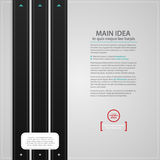 Modern web design text background with three black vertical stripes Royalty Free Stock Photo