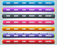 Modern Web Elements Vector. Modern Shiny Lighting Web Elements Vector Header & Navigation Templates Set. this file was saved EPS10 also that you can modify it Stock Images
