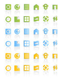 Modern web icon set stock illustration