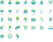 Modern Web Icons Stock Images
