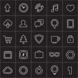Modern web icons collection Royalty Free Stock Photography