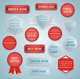 Modern web labels and badges Royalty Free Stock Photo