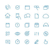 Modern web and mobile application pictograms Royalty Free Stock Photography