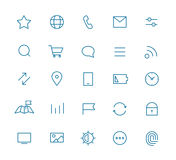Modern web and mobile application pictograms Stock Photos
