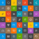 Modern web and mobile application pictograms collection. Lineart Royalty Free Stock Images