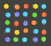 Modern web and mobile application pictograms Stock Photography