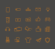 Modern web and mobile application pictograms collection. Lineart Stock Images