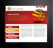Modern web page template. With 3d navigation items Royalty Free Stock Photography
