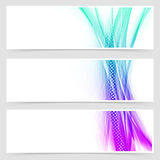 Modern web particle and line header collection Royalty Free Stock Photography