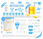 Modern web set with packaging Royalty Free Stock Image