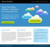 Modern web site design template Stock Photography