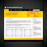 Modern web site layout template. EPS10 Stock Photo