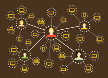 Modern web social media network scheme Royalty Free Stock Photo