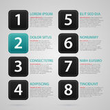 Modern web template with eight numbered options Stock Photos