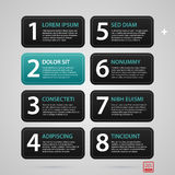 Modern web template with eight numbered options Royalty Free Stock Image
