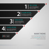 Modern web template with numbered chart Royalty Free Stock Photography