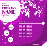Modern web template Stock Images
