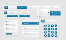 Modern web ui elements. Modern gray and blue web ui elements,  illustration Royalty Free Stock Photos