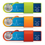 Modern Web2 Medical Banners Royalty Free Stock Image