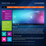 Modern website design template. Stock Image