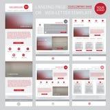 Modern website design template Stock Photo