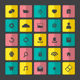 Modern Website Icons Set Royalty Free Stock Photography