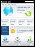 Modern website template Stock Image