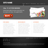 Modern website template Stock Image