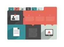 Modern website template. Royalty Free Stock Photo