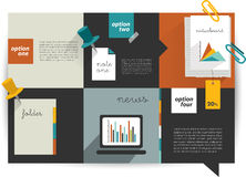 Modern website template. Colorful minimalistic option banner. Vector illustration. Box diagram. Blog, noticeboard background vector illustration