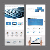 Modern Website Template Design Royalty Free Stock Image
