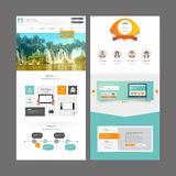 Modern Website Template Design Royalty Free Stock Photography