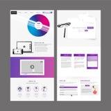 Modern Website Template Design Stock Photos