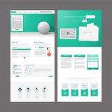 Modern Website Template Design Stock Photography