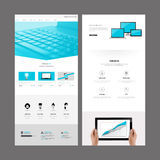 Modern Website Template Design Stock Photography