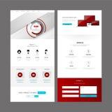 Modern Website Template Design Stock Images