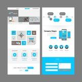Modern Website Template Design Royalty Free Stock Photos