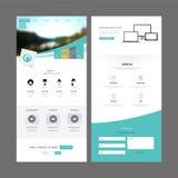 Modern Website Template Design Stock Photo
