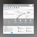 Modern Website Template Stock Photo