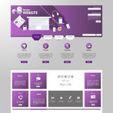 Modern Website Template EPS 10 Vector illustration Royalty Free Stock Photo