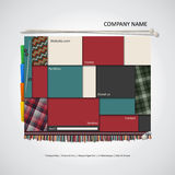 Modern website template. Fashion design Royalty Free Stock Photography